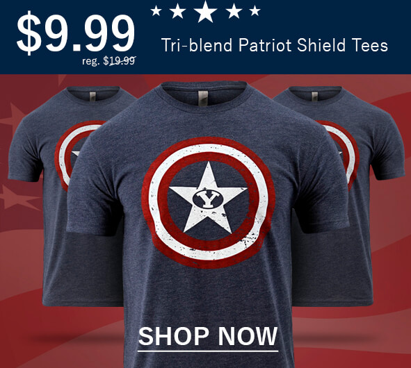 Only $9.99 - Tri Blend Patriot Shield Tee