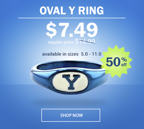BYU Oval Y Ring