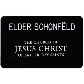 Missionary Name Tag - Select Options