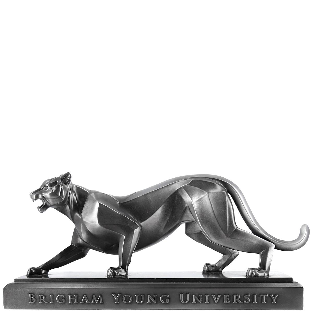 "Platinum BYU Cougar 15"" Sculpture - Bellissimo"