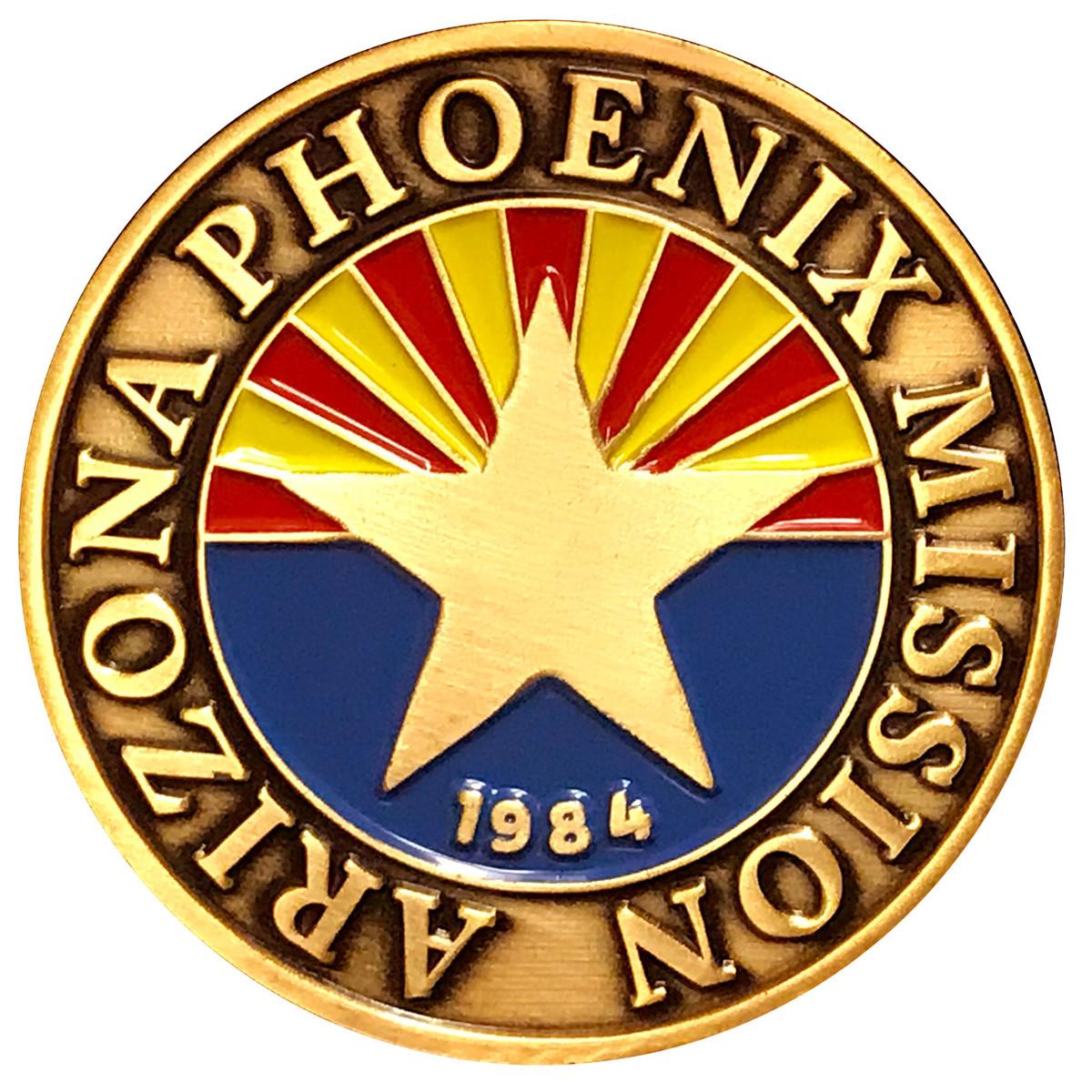 Arizona Phoenix Commemorative Mission Coin