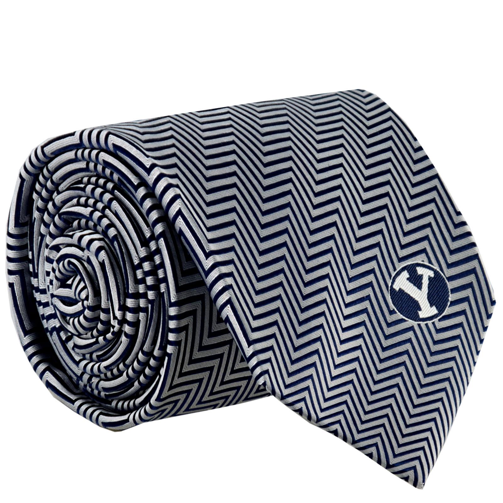 Oval Y BYU Silk Tie - BSC