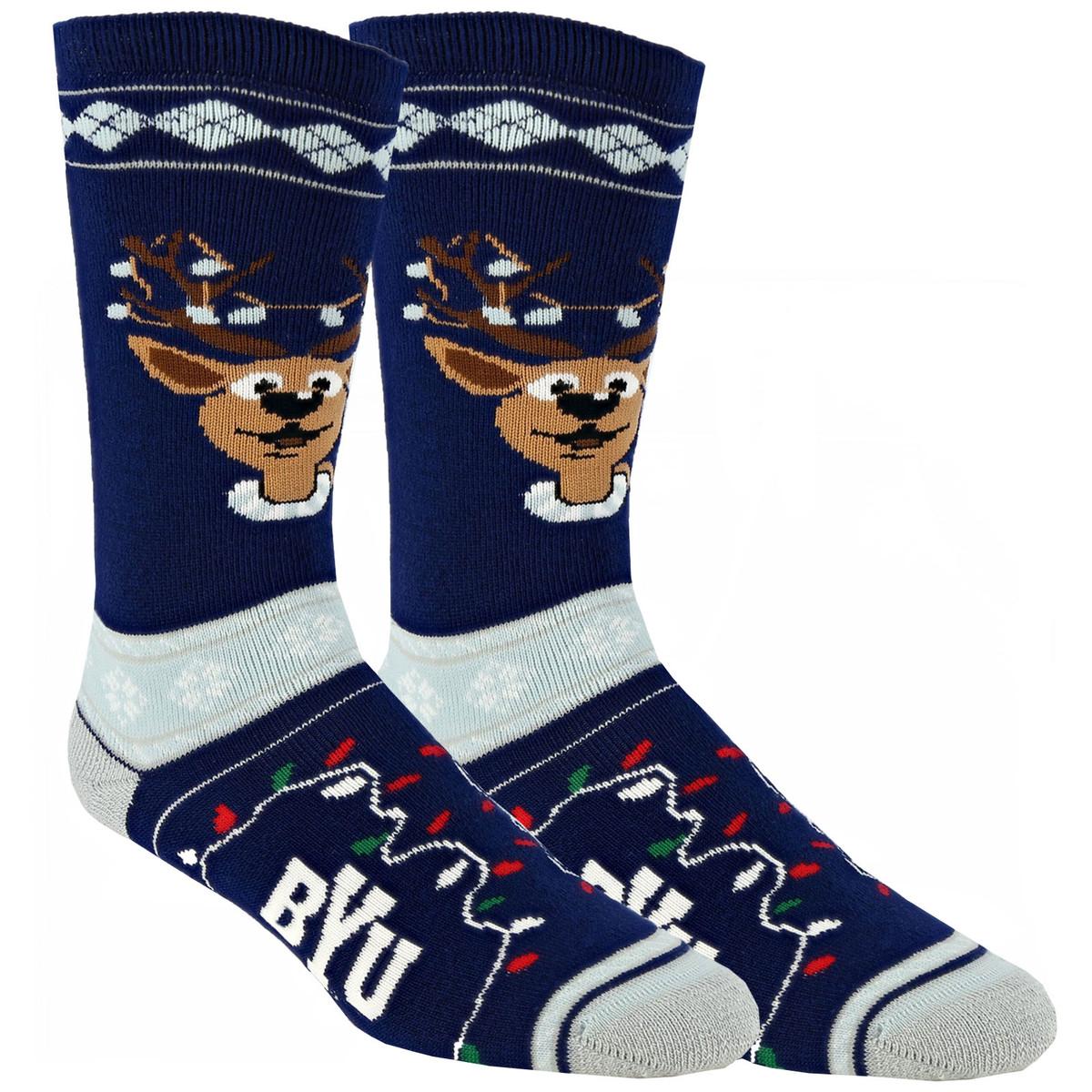 Men\'s BYU Footwear, Official Apparel, Socks