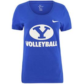 4242ae64c7 Women's Oval Y BYU Volleyball T-Shirt - Nike