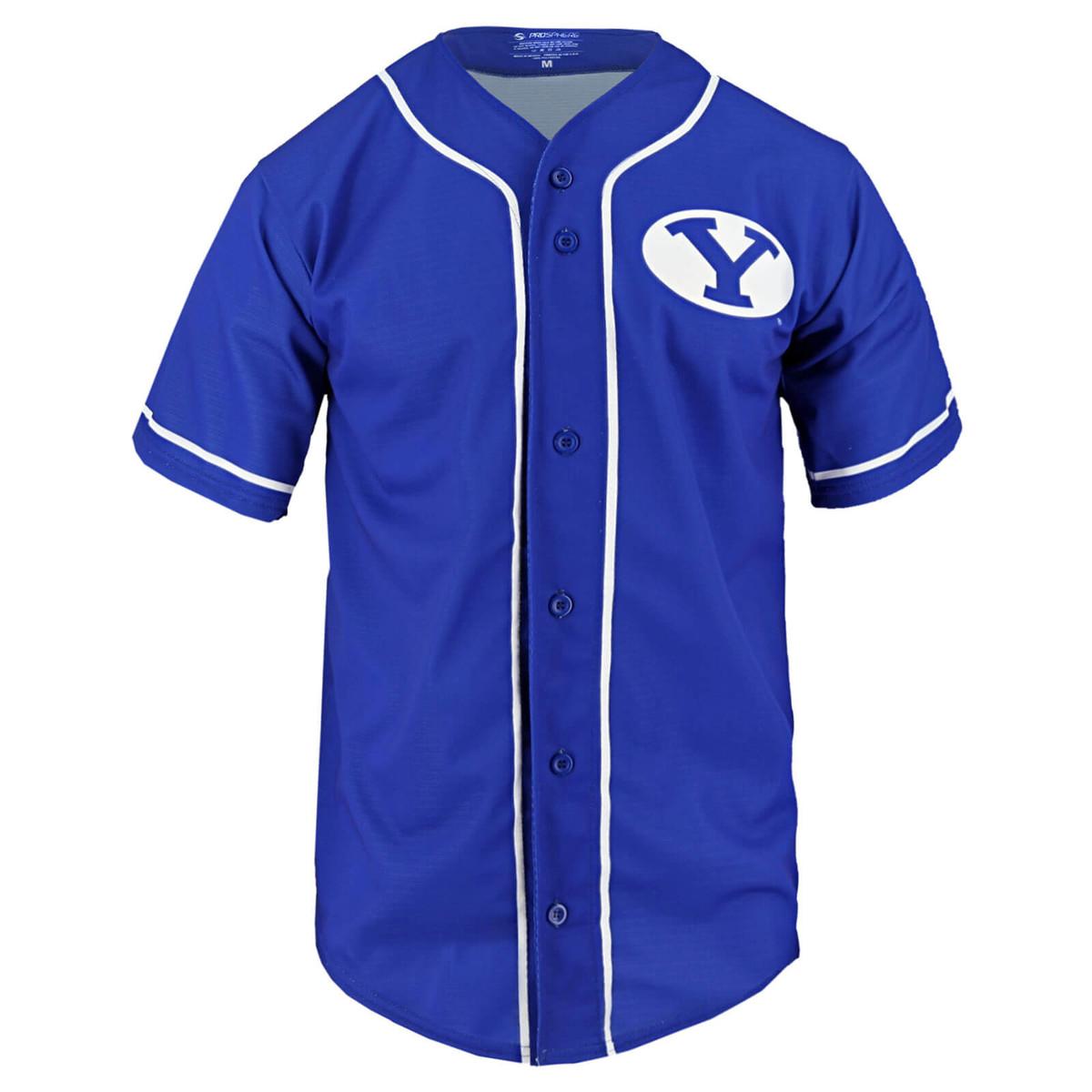 size 40 60db2 8b1a9 Oval Y BYU Baseball Jersey - Prosphere