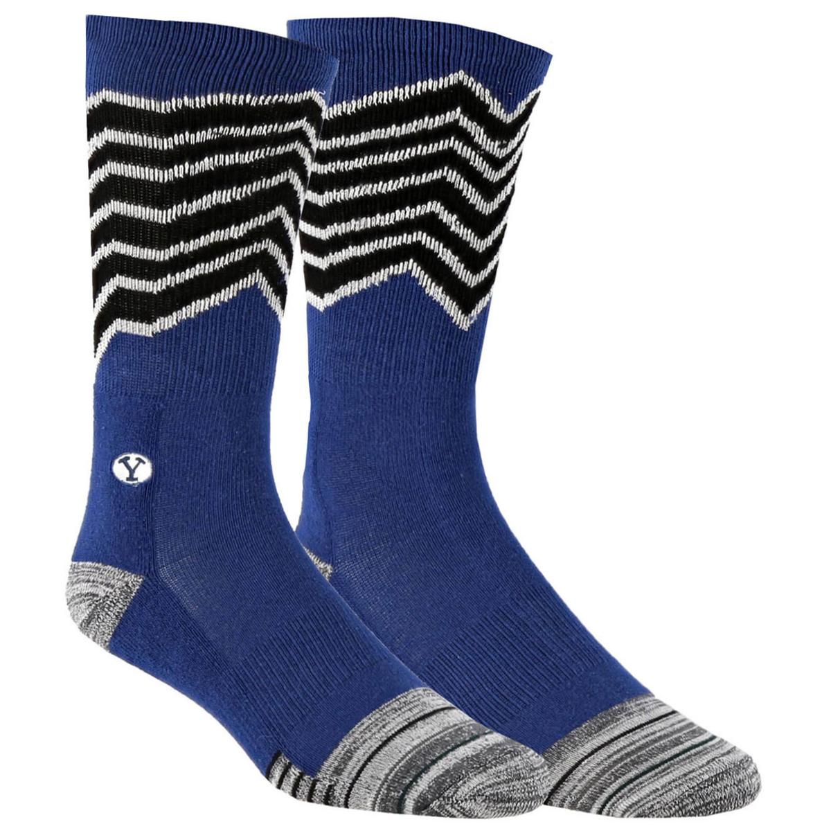 Oval Y BYU Crew Socks - BSC