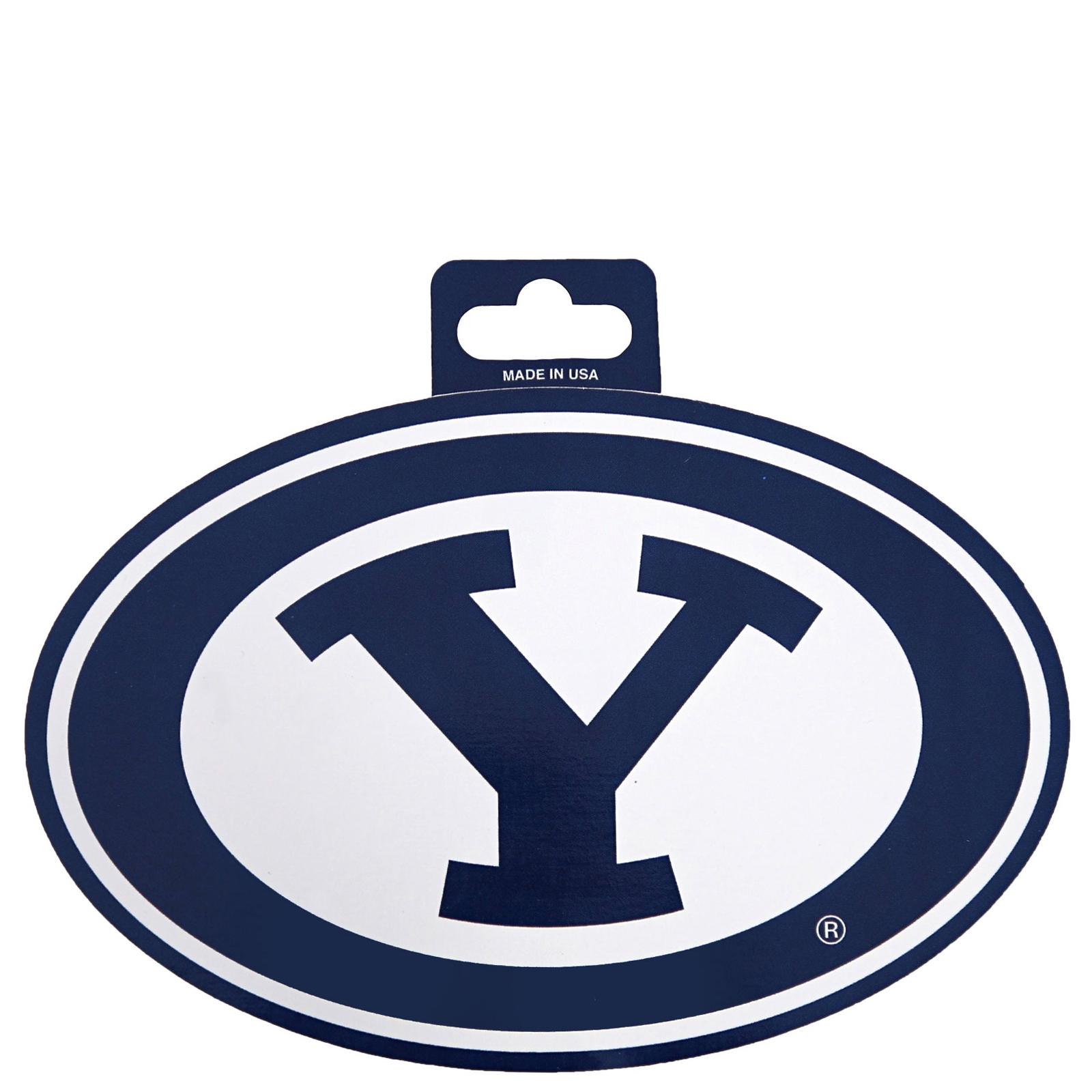 Oval Y BYU Sticker