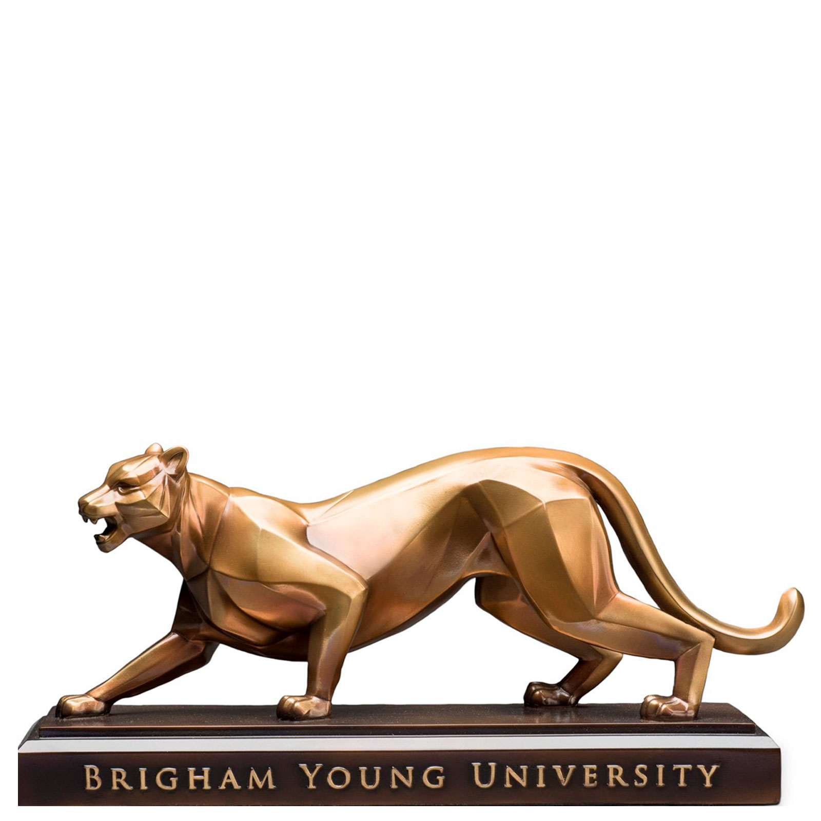 "Bronze BYU Cougar 15"" Sculpture - Bellissimo"