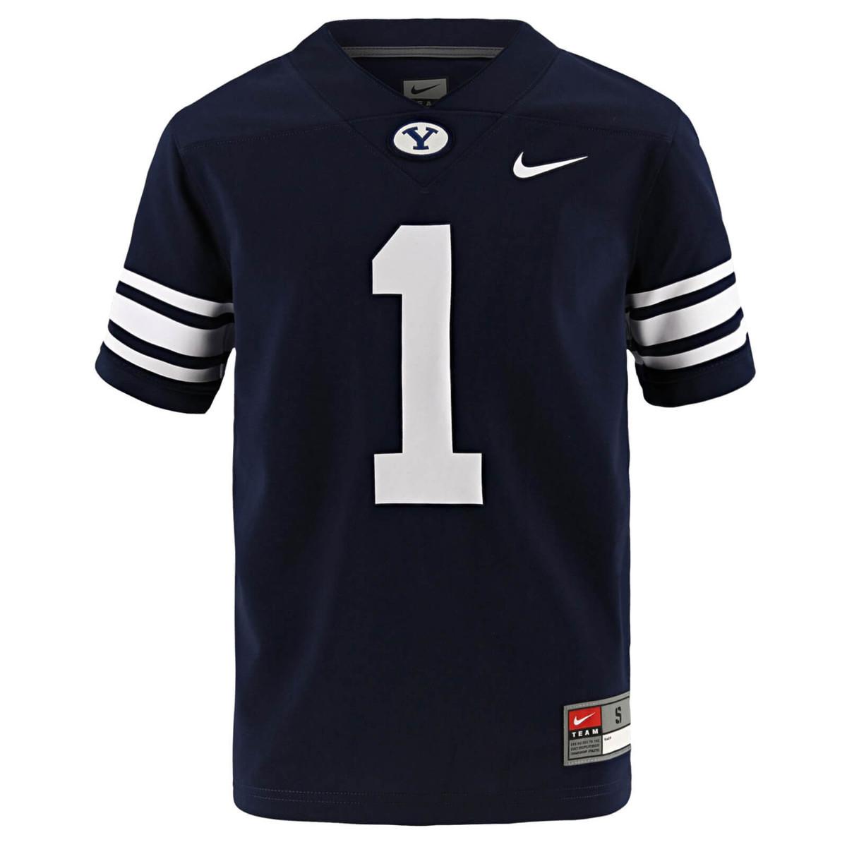 newest 7fec6 ee3ae Youth Oval Y Replica BYU Football Jersey - Nike