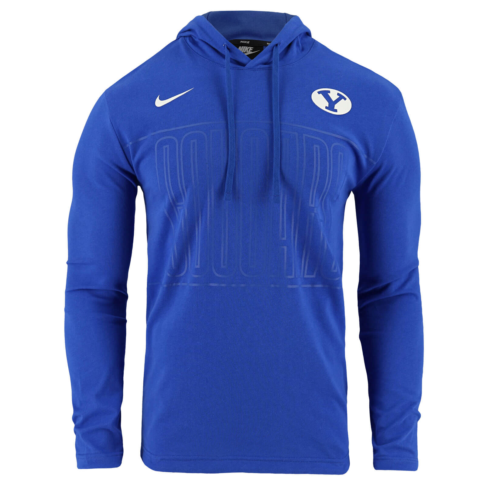 Oval Y Cougars Hooded Long Sleeve Shirt - Nike