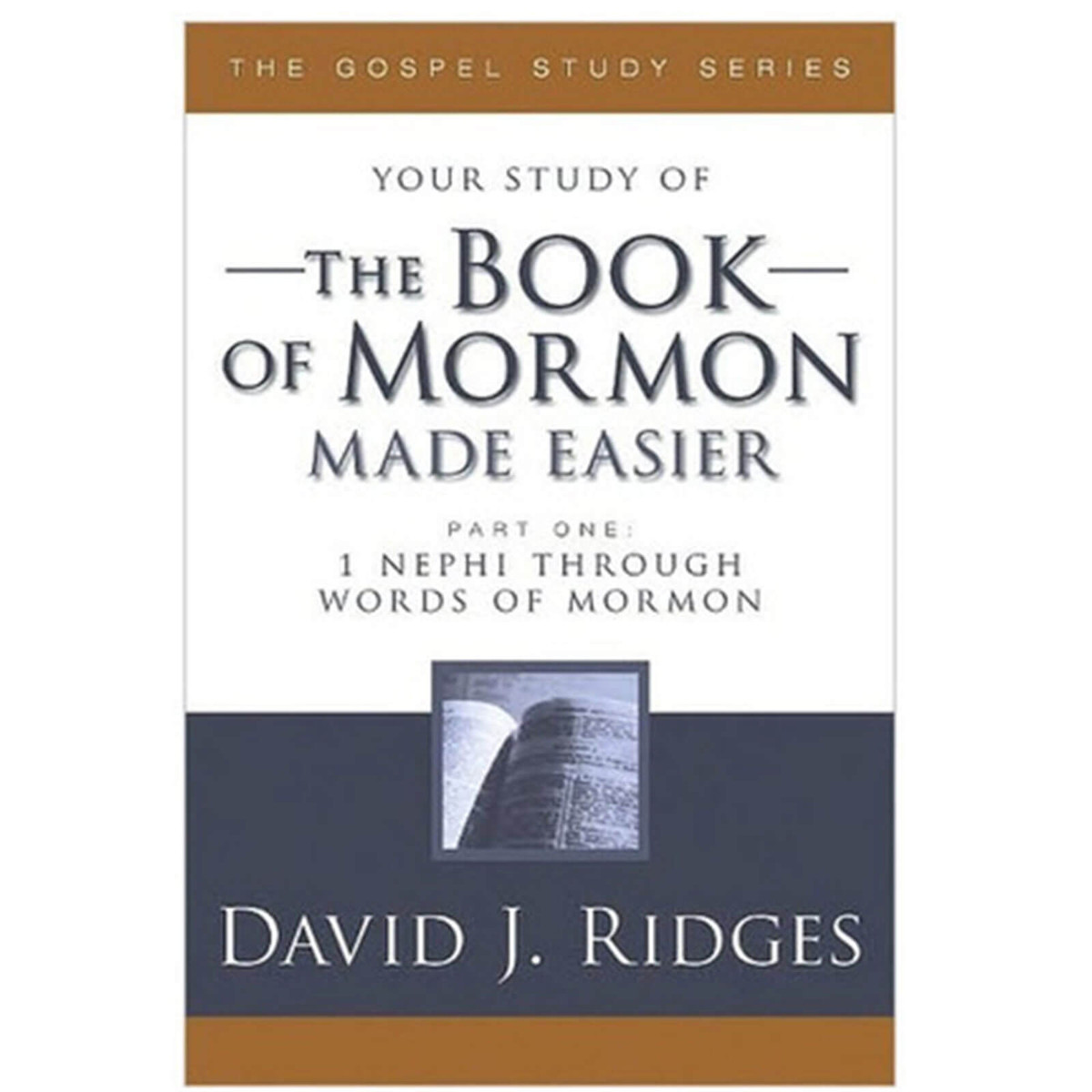 Your Study of the Book of Mormon Made Easier: Part 1: 1 Nephi-Words of  Mormon by David J Ridges