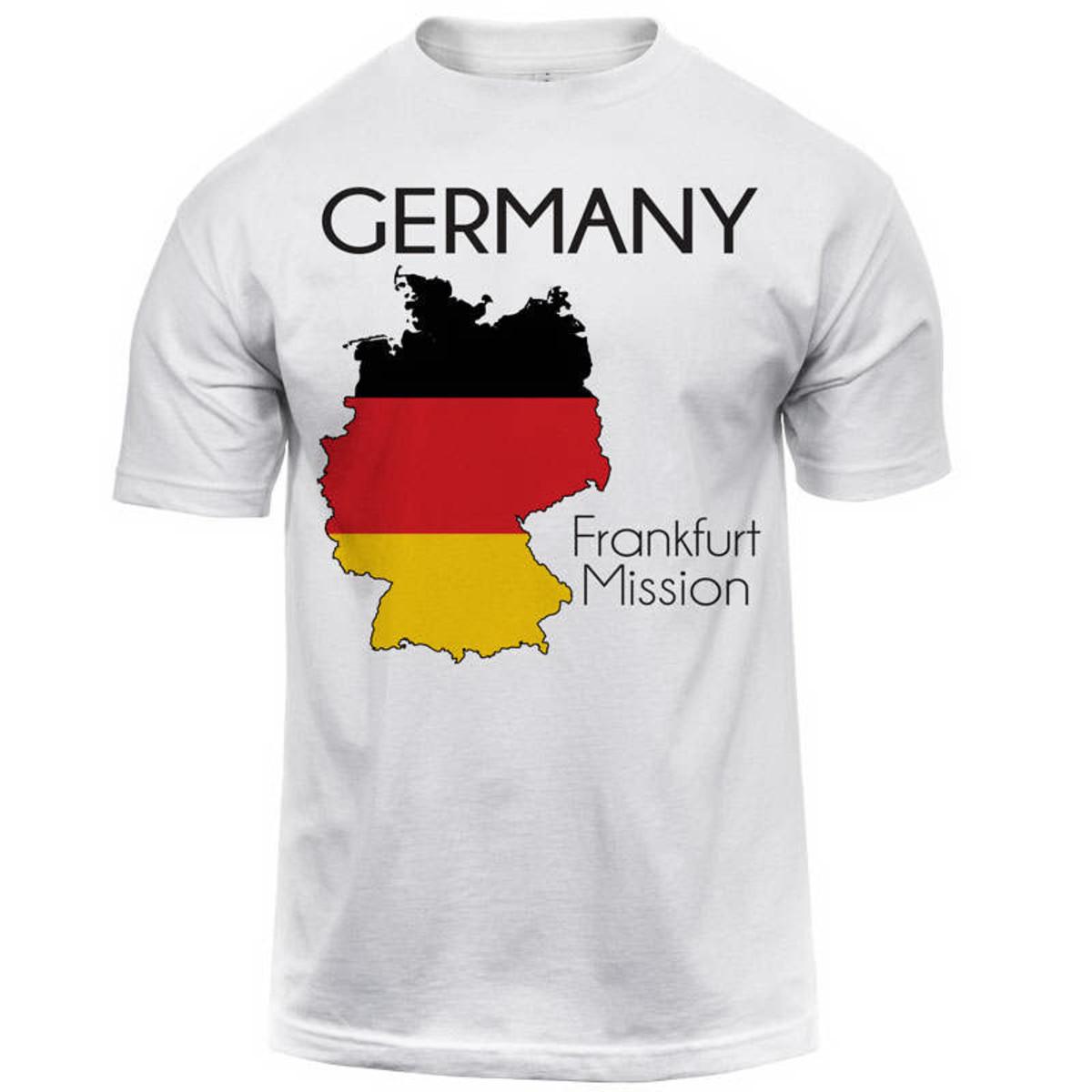 germany frankfurt map mission tee shirt men u0026 39 s
