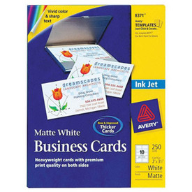 8371 matt business cards inkjet printer papter 25 sheet ink jet printer paper - Avery Business Card