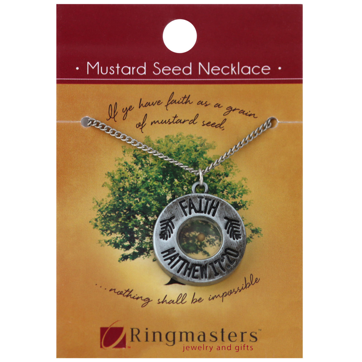 Mustard seed necklace aloadofball Image collections