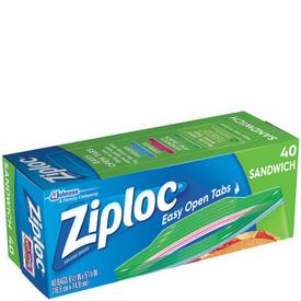 Ziploc Sandwich Bags 40 Ct