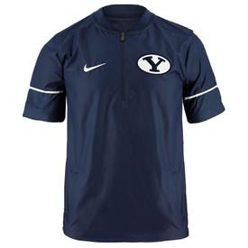 Oval Y BYU 1 4 Zip Pullover - Nike b7377ba8b