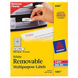 6467 removable laser labels 1 2 x 1 3 4 25 sheet