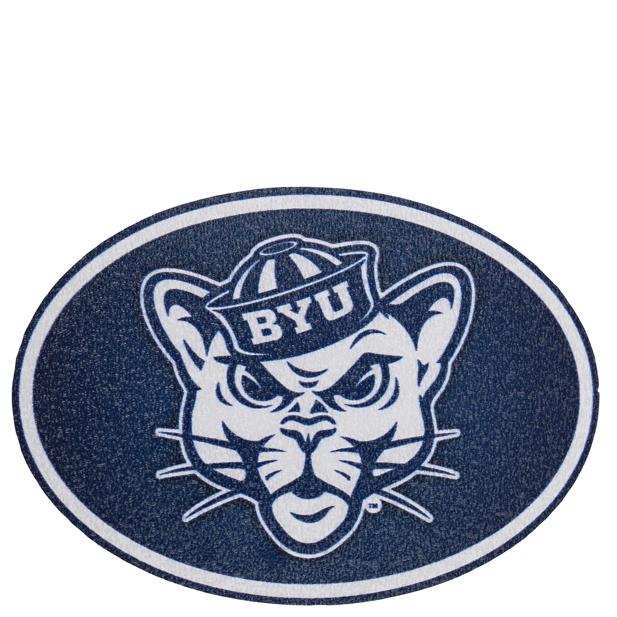 Sailor hat cougar byu decal 2 5 x 1 75
