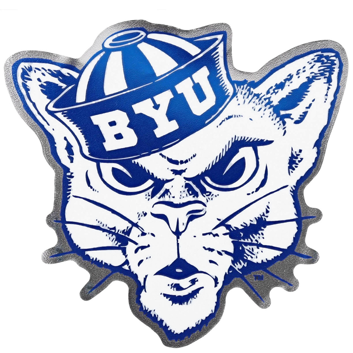 Sailor hat cougar byu decal 6 x 5