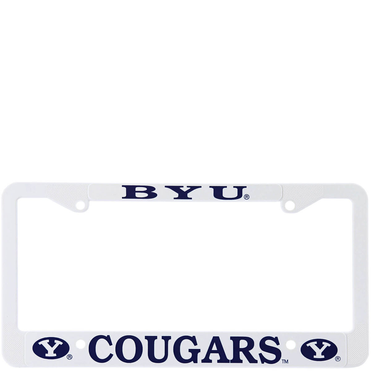 Byu White License Frame