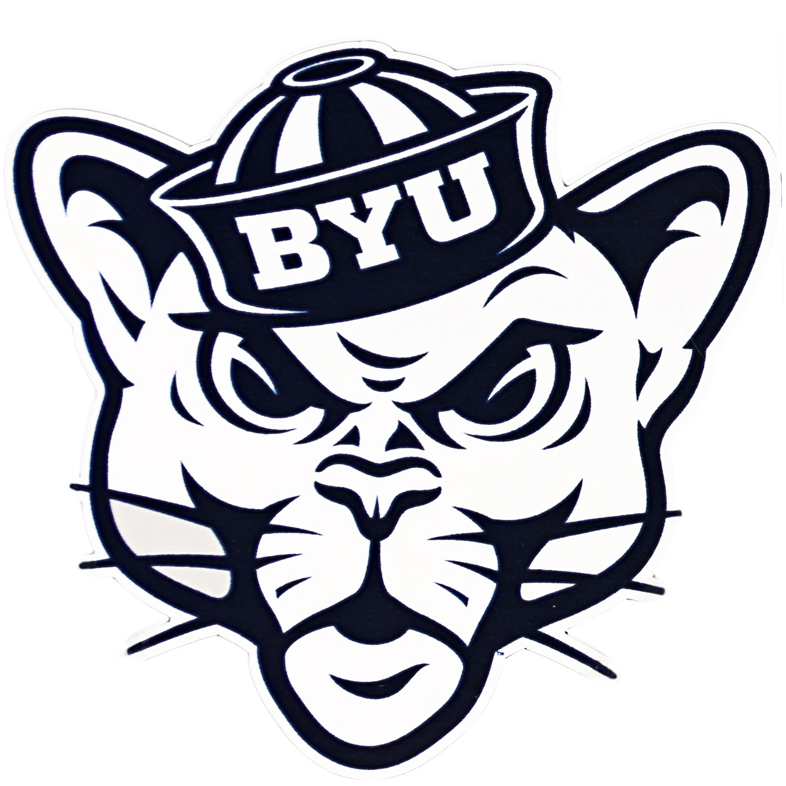 """Sailor Hat Cougar BYU Decal - 4.5"""" x 4.5"""""""