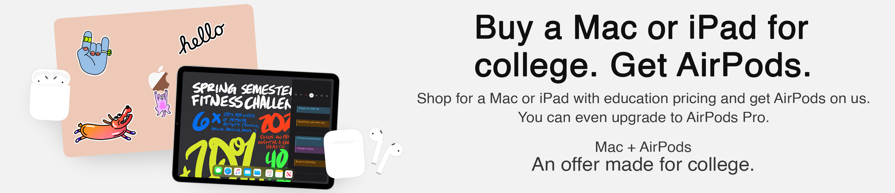 Apple Back to School AirPods Promo